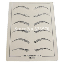 10pcs/pack Eyebrows Tattoo Practice Skins Synthetic Permanent Training Tattoo Accesories