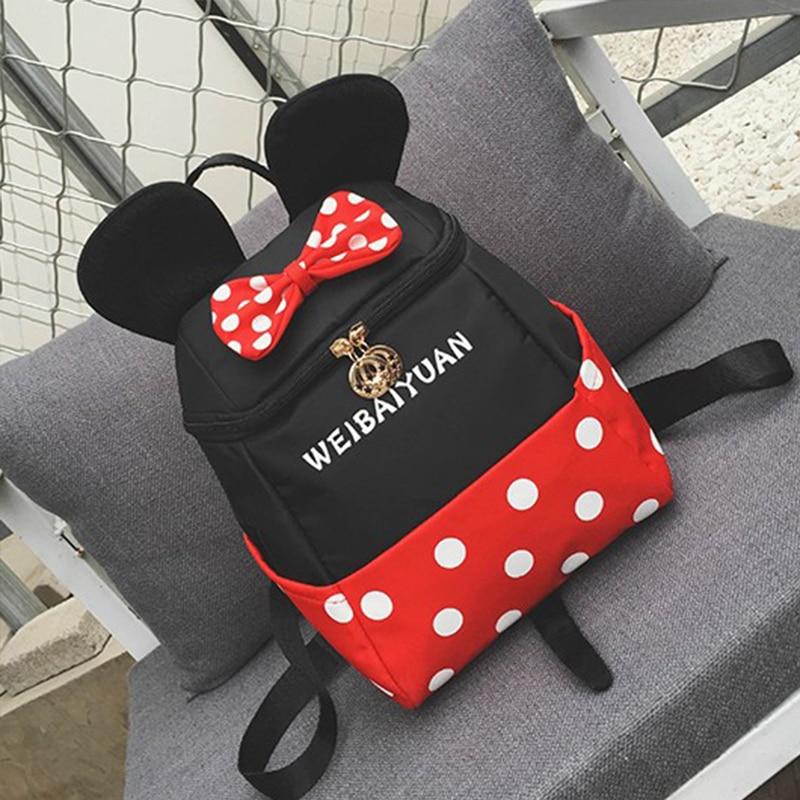 Mickey Minnie Boys Girls Children School Bag Cute Baby Toddler Shoulder Bag Primary Student School Bag Mochila Infantil