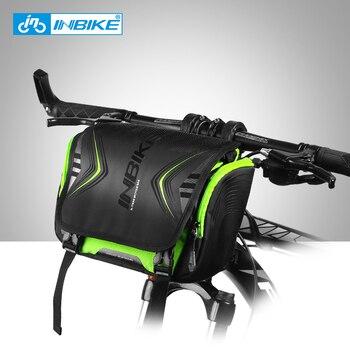 INBIKE водонепроницаемая сумка для велосипеда большой емкости Руль Передняя труба сумка велосипедный карман наплечный рюкзак Велоспорт вело...