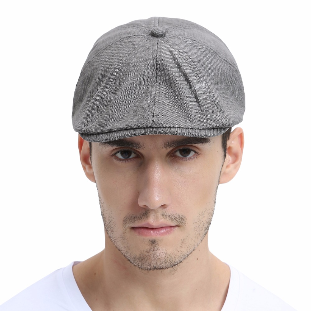 VOBOOM Summer Linen Newsboy Ivy Flat Cap Men Women Breathable Style 8 Panel  Design Cabbie Boina Hats 106-in Newsboy Caps from Apparel Accessories on ... ed9da818f4d