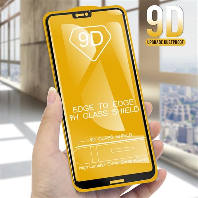 9D completa Protector de pantalla para Huawei P20 Pro amigo 20 Lite P10 P20 Lite de vidrio en Nova 3 Honor película de vidrio 8X10 9 Lite