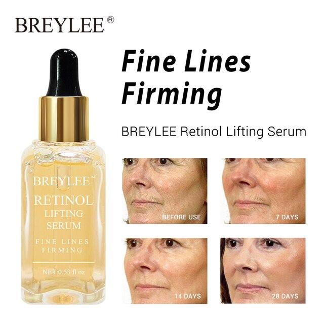 BREYLEE 2pcs Rose Nourishing Serum Retinol Lifting Firming Face Skin Care Collagen Whitening Anti aging Wrinkle