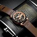 Mann Uhr Mens Top Marke Luxus Leder Quarz Automatische Datum Uhr Männlichen Armee Militär Wasserdichte Armbanduhr NAVIFORCE Sport-in Quarz-Uhren aus Uhren bei