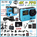 CELTER H3 / H3R 4K Remote Action Camera Ultra HD 4K Video WiFi 1080P Sport 2.0 LCD+0.95 Style 170D Lens Waterproof