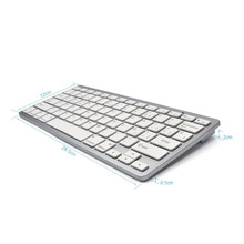 Zienstar Spanish Language Ultra slim Wireless Keyboard Bluetooth 3.0 for ipad/Iphone/Macbook/PC computer/Android tablet