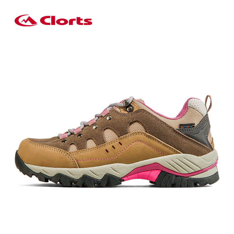 Clorts Trekking Shoes for Women Waterproof Hiking Shoes Suede Leather Mountain Shoes Outdoor Shoes HKL815C clorts waterproof hiking shoes for women breathable outdoor mountain shoes suede leather climbing footwear