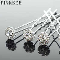 PINKSEE 20PCS Wedding Hair Accessories Crystal Flower Hairpin Hair Clip For Women Hair Ornaments Wholesale