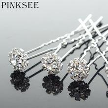 Pinksee 20 шт Свадебные аксессуары для волос Хрустальный цветок