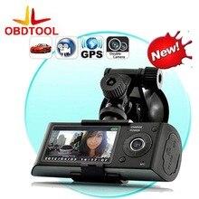 Cheap price X3000 R300 Dual Lens Car DVR Dash Camera with GPS G-Sensor Camcorder 140 Degree Wide Angle 2.7inch Cam Video Digital Recorder