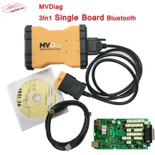 2017Newest MVD Diag V5.008 3In1 Green Single Board Bluetooth TCS CDP PRO Diagnostic Tool MVD Diag Support Car&Truck Free Active