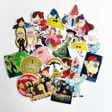 TD ZW 2018 26Pcs Gravity Falls Наклейки Decal для сноуборда Ноутбук Багаж Автомобиль Холодильник DIY Styling Vinyl Home Decor Pegatina
