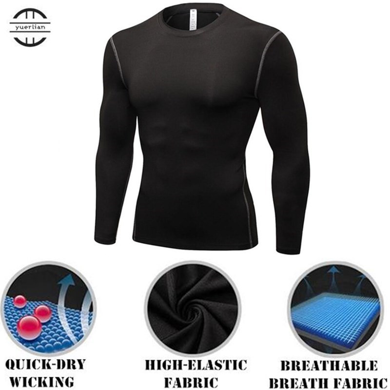 High Flexibility Body Compression Base Layer PRO Body-building Tight Full Long-sleeved S ...