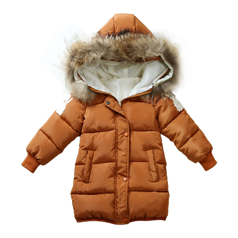 Children Outerwear Baby Girls Winter Coats Kids Jacket Overcoat 2017 Fashion Thick Warm Embroidered Rabbit Cotton-padded Clothes winter kids rex rabbit fur coats children warm girls rabbit fur jackets fashion thick outerwear clothes