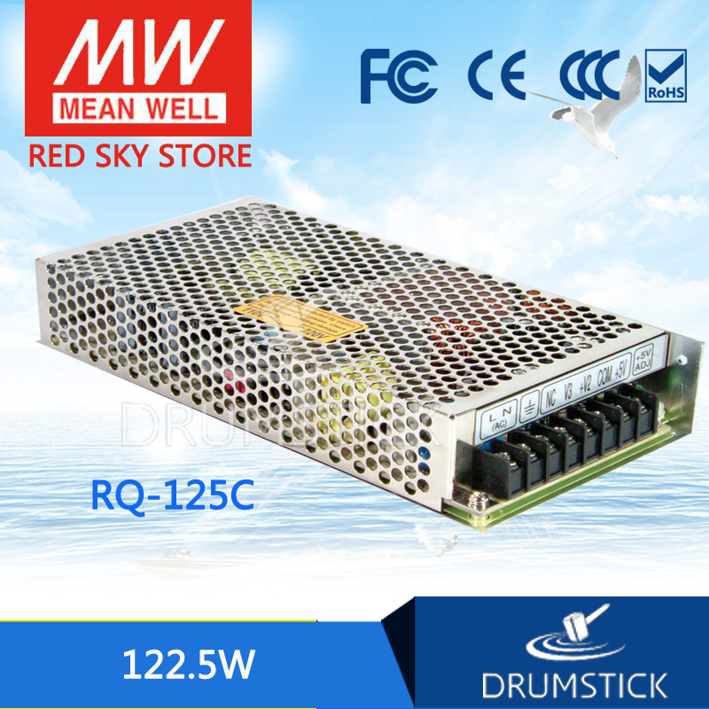 hot-selling MEAN WELL RQ-125C meanwell RQ-125 122.5W Quad Output Switching Power Supply