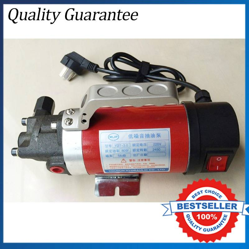 YD-2.5 12V Hydraulic Oil Transfer Pump 4L/min ac mini gear oil pump 4l min 220v fuel oil pump cast iron yd 2 5