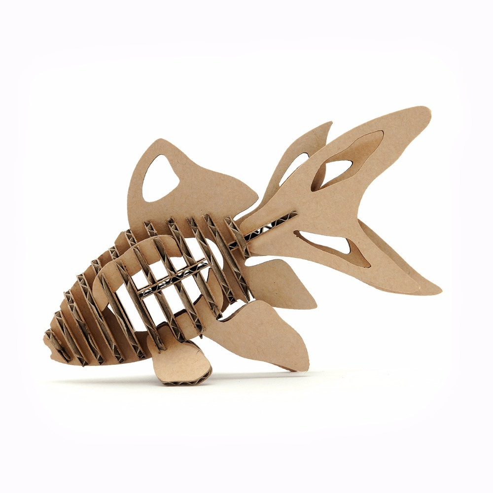 3d Puzzle Fish Paper Craft Goldfish Model Cute Kids
