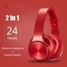 цены на ASINA Bluetooth Headphone Wireless 2 in 1 NFC Mini Speaker Wireless Sports Magic Wireless Headset With Microphone Portable FM  в интернет-магазинах