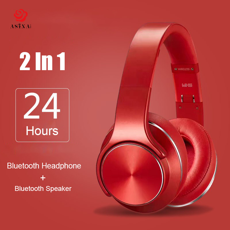 цена на Asina SODO Bluetooth Headphone Wireless 2in1 NFC Speaker Ear Wireless Sports Magic Wireless Headset With Microphone NFC FM