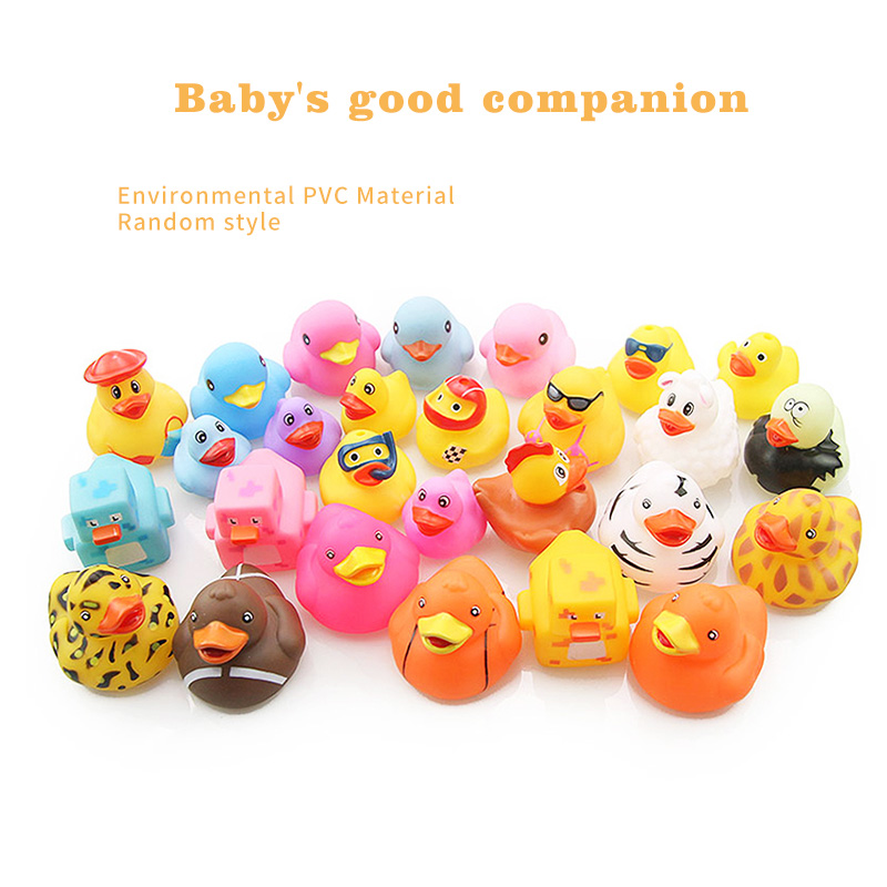 Classic Rubber Duck Toy All Kinds Of Soft Floating Rubber Ducks Swimming On The Water To Play Baby Bath Toys Random Delivery