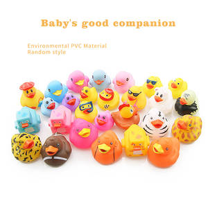 10PCS Random styles Rubber Duck Baby Shower Water BB Bathing toys for baby kids children Birthday Gift classic toy boys girls
