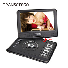 цена TRANSCTEGO HD DVD player portable car tv 9.8 inches LCD screen Support TV Game TV MPEG DVD/VCD/CD/MP3 with gamepad онлайн в 2017 году