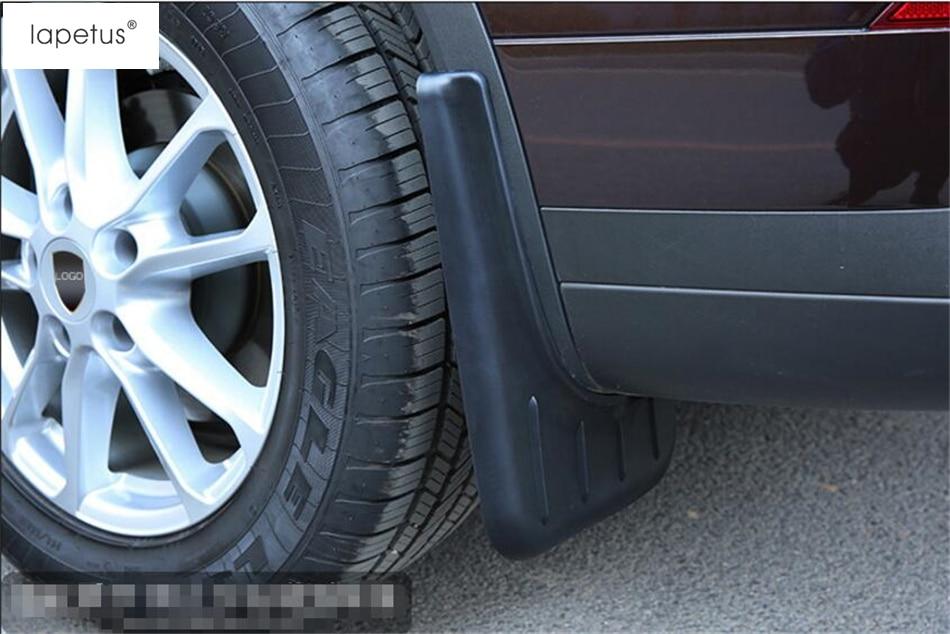 Accessories For Porsche Cayenne 2015 2016 2017 Front + Rear Mud Guard Mudguards Splash Flaps Molding Cover Kit Trim fit for jeep wrangler jk 2007 2015 mudflaps mud flap splash guard mudguards front rear fender accessories