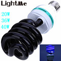 High Power LED Bulb AC 220V 20W 36W 40W E27 3000-3500LM Spiral Energy Saving Black Light Lamp with UV Traps Insects Led Bulbs