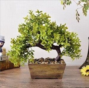 Искусственное растение, растение бонсай в горшке, сосновые искусственные елки для домашнего офиса, магазина, украшения для дома