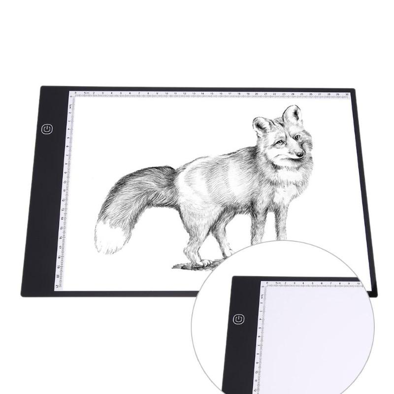 A4 LED Portable LED Drawing Copy Board Pad Table Writing Painting Light Artcraft Digital Tablets Smart Memory Function Toy