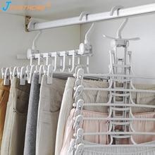 Joyathome Folding Multi-Functional Multilayer Pants Rack Cabinet Hanger Household Folder Storage Skirt Organizer