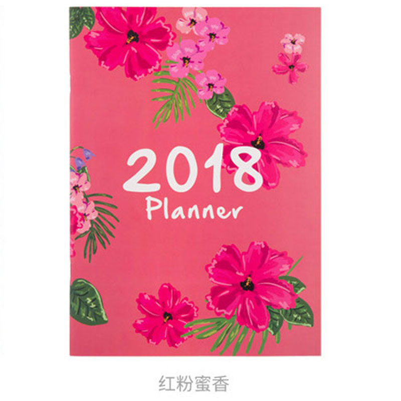 2018 year New Planner Notebook Calendar Time Organizer Candy School Student Diary Agenda Monthly Planner Notebooks Stationery A4 kicute 2017 2018 calendar a4 leather notebook schedule daily weekly monthly planner agenda organizer diary stationery gift