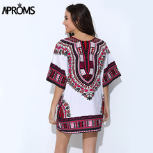 Aproms Traditional African Clothing for Womens Shirt  Mens Classic Bazin Riche Dashiki Tops  Big Size Autumn Print Blouses 10716