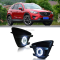 2x LED Daytime Running Lights DRL Projector Lens Fog lights + COB Angel Eyes Kit For Mazda CX-5 2015-2017