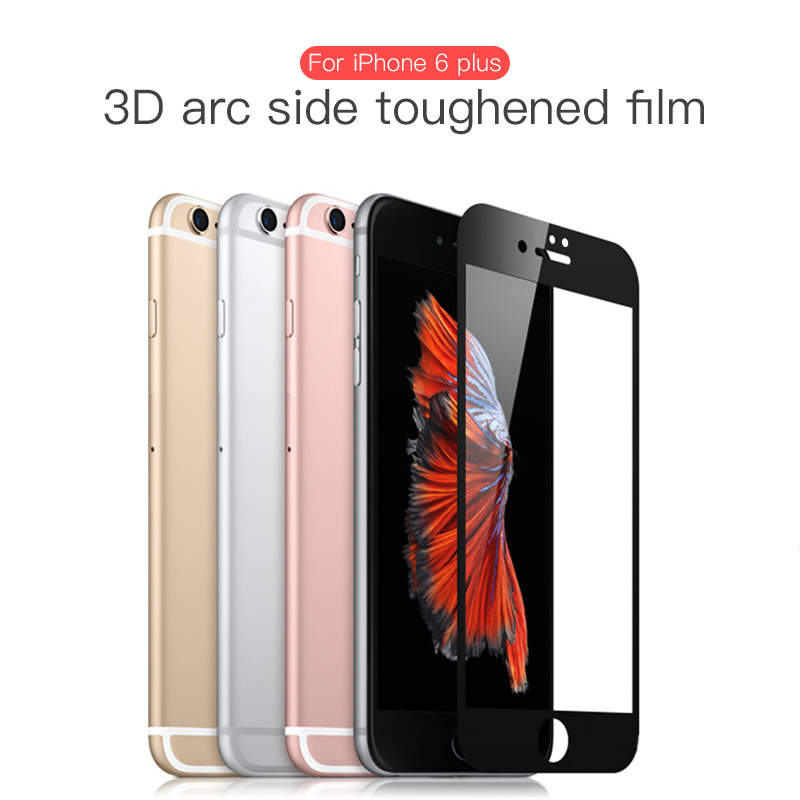 9H Glossy 3D Curved Carbon Fiber Soft Edge Tempered Glass For IPhone 6 7 Plus Phone Screen Protector Film For IPhone XS XR MAX