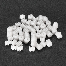 Uxcell New Hot Sale 50pcs/lot 6x6 6x8 2A Plastic Gear for DIY Cars Robot Motor Model Production Technology Toy Accessories 2 sets green model miniature of delight mini solar car stepper motor diy for production technology teenage enlightenment toy