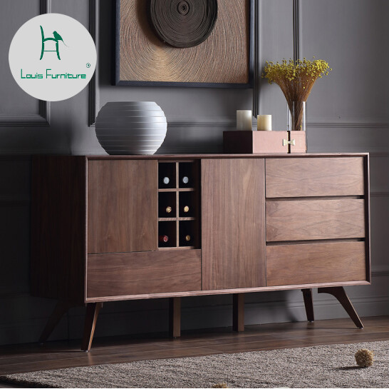 Louis Fashion Living Room Cabinets Storage Japanese Style Nordic Multi Wood  Restaurant Furniture