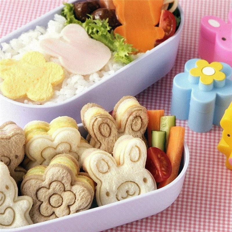 WHISM Plastic Sandwich Cutter DIY Beer Bloem Konijn Vorm Toast Brood Biscuit Cake Cookies Cutter Bakken Fondant Vormgeven Schimmel