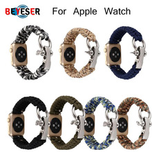 bumvor sport woven nylon band strap for apple watch 40 44mm 42 38mm wrist braclet belt fabric like for iwatch 4 3 2 1 edition Woven Rope nylon strap for Apple Watch band 42mm 38mm 40mm 44mm 5/4/3/2/1 Outdoors sport watch Straps with adapters watch belt