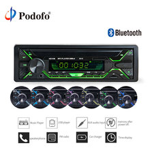 Podofo 12 v Per Auto Bluetooth Stereo FM Radio MP3 Lettore Audio USB AUX FM Stazione Radio di Bluetooth Remote Control 1DIN autoradio Audio