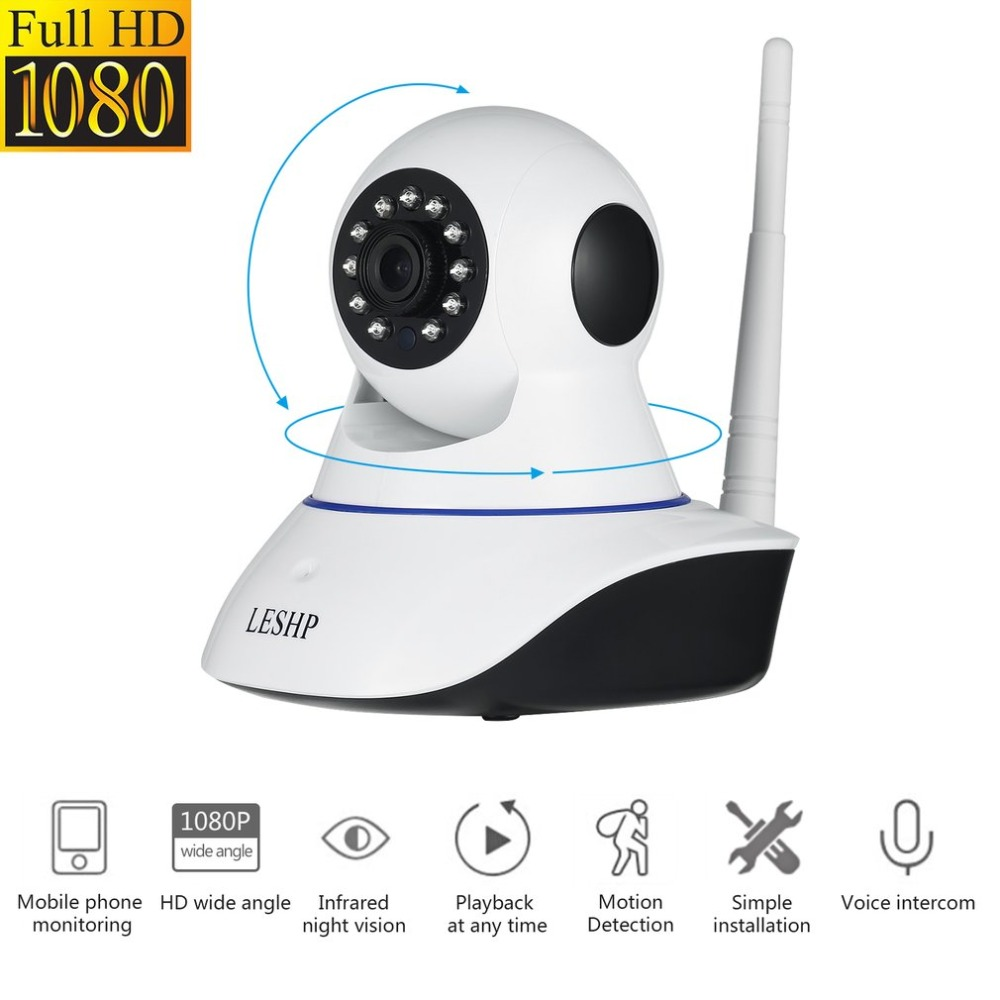 1080 Plug & Play Night Vision 4pcs Infrared Led Surveillance Cameras Imported From Abroad Indoor Hd 1080p Wireless Network Ip Alarm Camera 2mp 1920