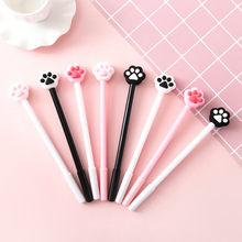 40 Pcs/lot Creative Cat Paw Gel Pen Lovely Pink Heart 0.5mm Black Ink Signature School Office Supply Promotional Gift