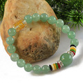 Lucky Gem Bracelet mantra prayer beads natural aventurine jade bracelet fashion bracelets for women bracelete natural stone 0286