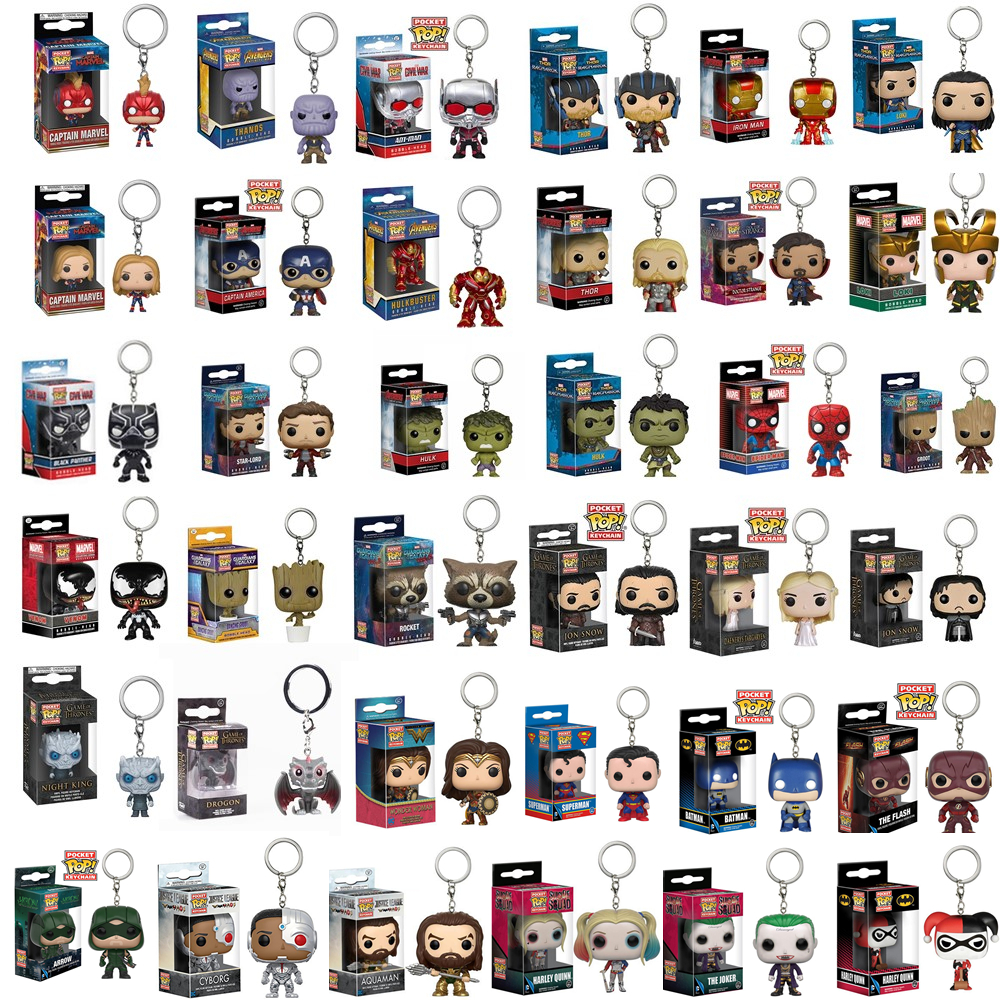 funko-pop-new-arrival-the-font-b-avengers-b-font-justice-league-game-of-thrones-official-pocket-pop-keychain-action-figure-toys-for-gifts