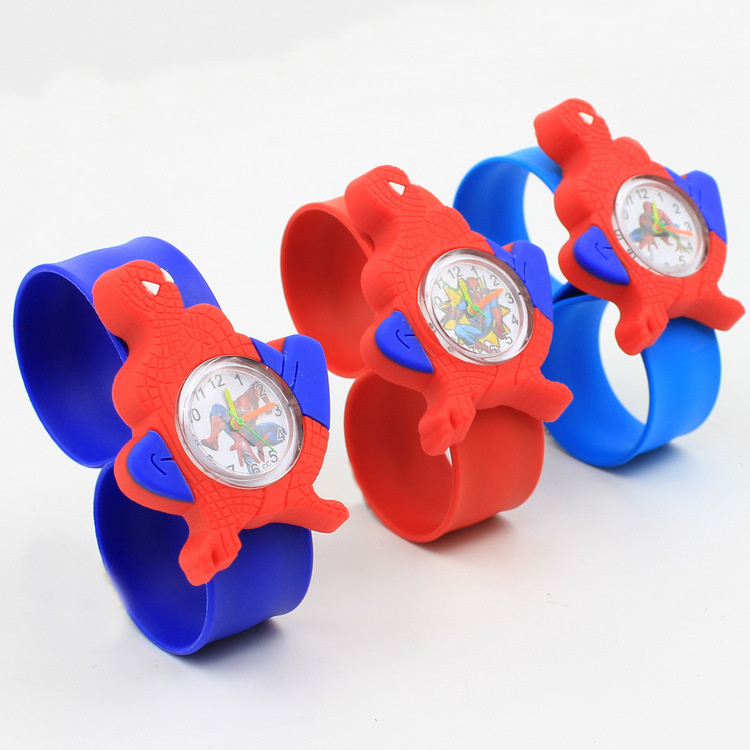 Cartoon Baby Kids Watches Cute Silicone Band Slap Watch Casual Animal