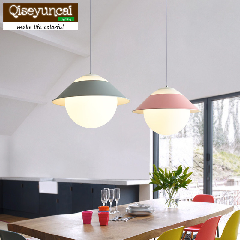 Qiseyuncai 2018 Nordic restaurant glass chandelier single head ball color bar table lamp simple modern bedroom study room lampsQiseyuncai 2018 Nordic restaurant glass chandelier single head ball color bar table lamp simple modern bedroom study room lamps