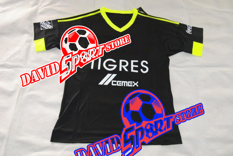 910c1dd42 Club tigres jersey 2015 soccer mexico tigres uanl soccer jersey 2016 home  Black White football shirt 15 16 GUERRON PIZARRO SOBIS-in Soccer Jerseys  from ...
