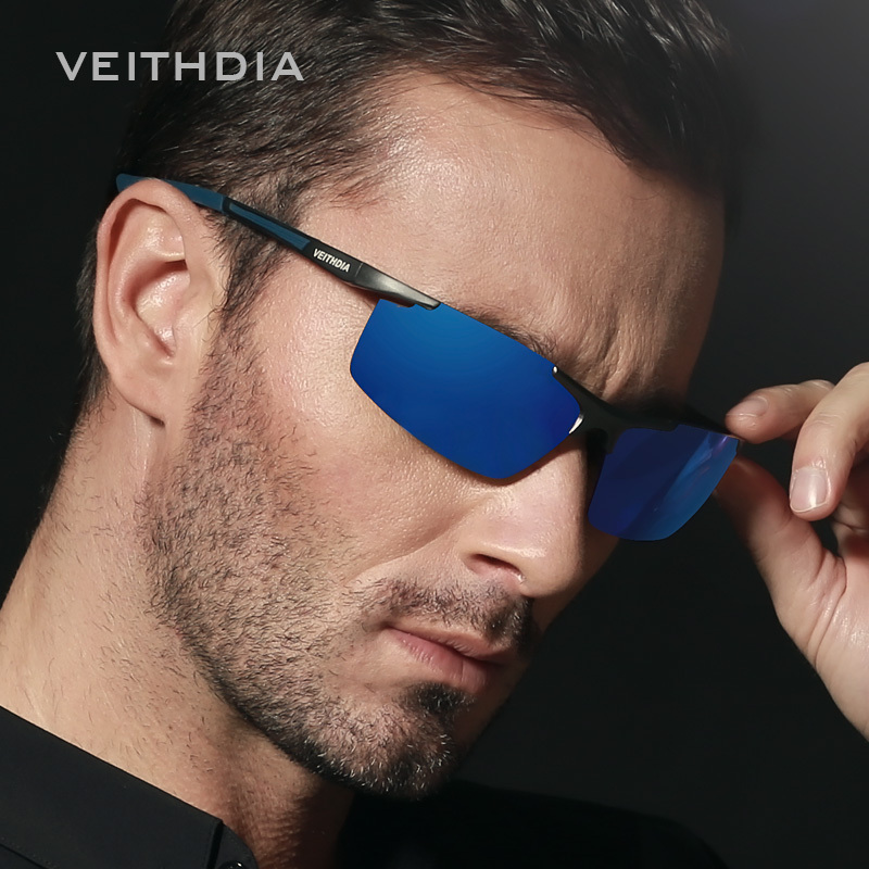 mens sport sunglasses a4kc  VEITHDIA Aluminum Magnesium Men's Sunglasses Polarized Coating Mirror Sun  Glasses oculos Male Eyewear Accessories For Men 6588-in Sunglasses from  Men's