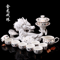 Hot Sale China KongFu Teapot tea sets Useful 8 Person Chinese style Tea Pot Lazy Tea Sets with China 12 animals designing