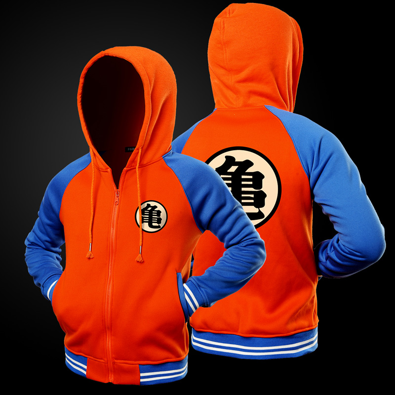 Cartoon Dragon Ball Z Goku Hoodie Sweatshirt Men Casual Slim Fit Zipper Hoodies Sweatshirts Men Hooded Baseball Jacket Overcoat