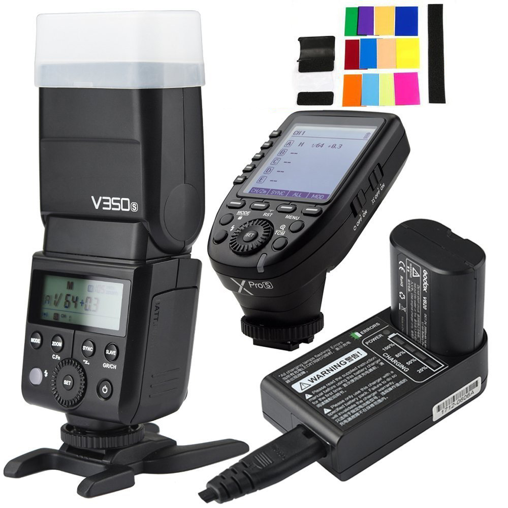 Godox V350S TTL 2.4G Camera Flash with Built-in Rechargeable 7.2V/2000mAh Li-ion Batter,Godox Xpro-s Flash Trigger for For Sony dste bp 808 7 4v 2100mah li ion batter for canon fs11 fs100 hf200 hfs10 hfs100 black